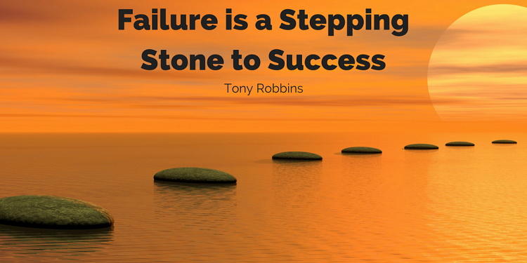 Failure is a stepping stone to success